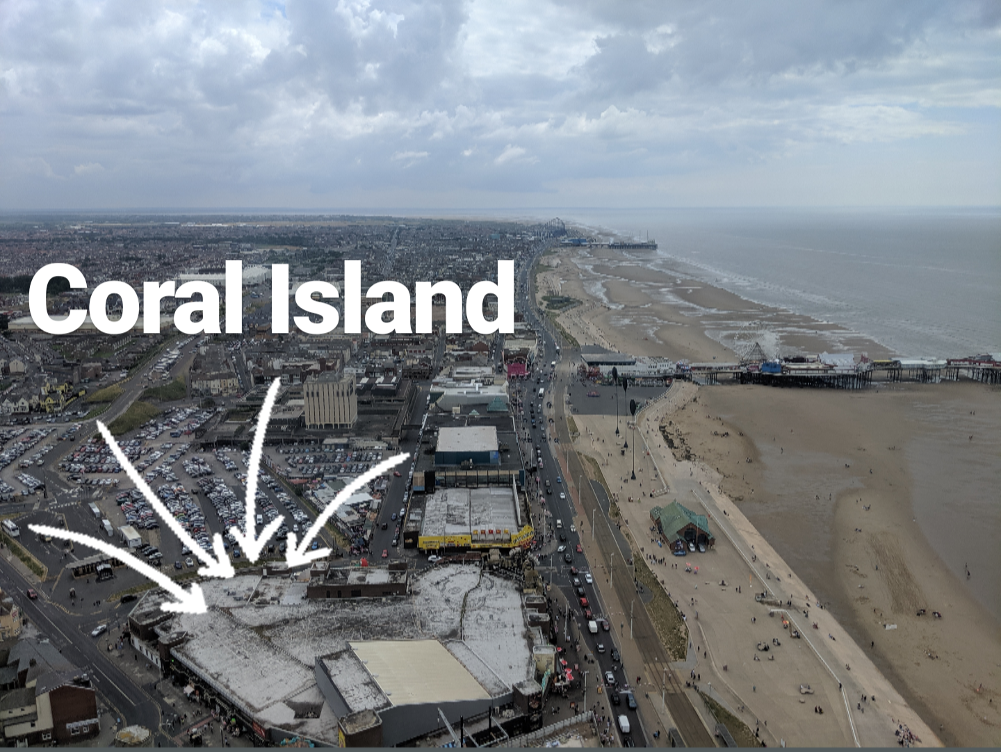 An A-Z Guide to Coral Island, Blackpool  - Coral Island from Blackpool Tower