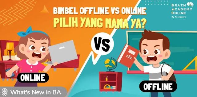 Perbandingan Bimbel Offline vs Online
