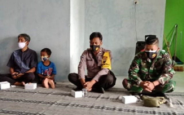 Babinsa Hadiri Peresmian Gedung PKH Desa Munjul