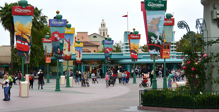 Entrada a Disney California Adventure.