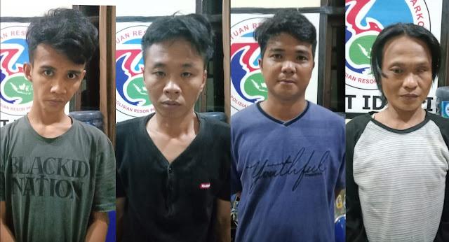 Polisi Amankan 4,43 Gram Sabu Dari 4 Orang Tersangka