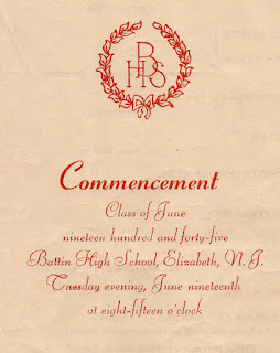 Commencement program for Battin High School, Elizabeth, NJ. Class of 1945.