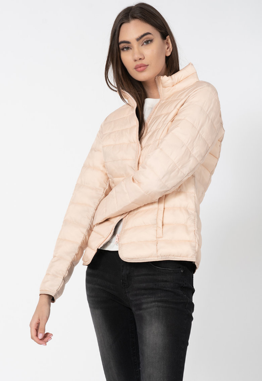 Jacheta femei roz pal usoara de toamna la reudcere