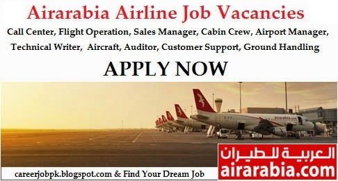 Air Arabia Airlines jobs Sharjah 2016