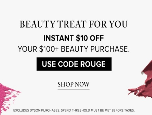 Hudson's Bay Boxing Day Preview $10 Off Beauty Purchase Promo Code