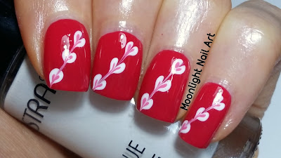 Drag Marble Hearts Nail Art - Easy Valentine's Day Nail Design