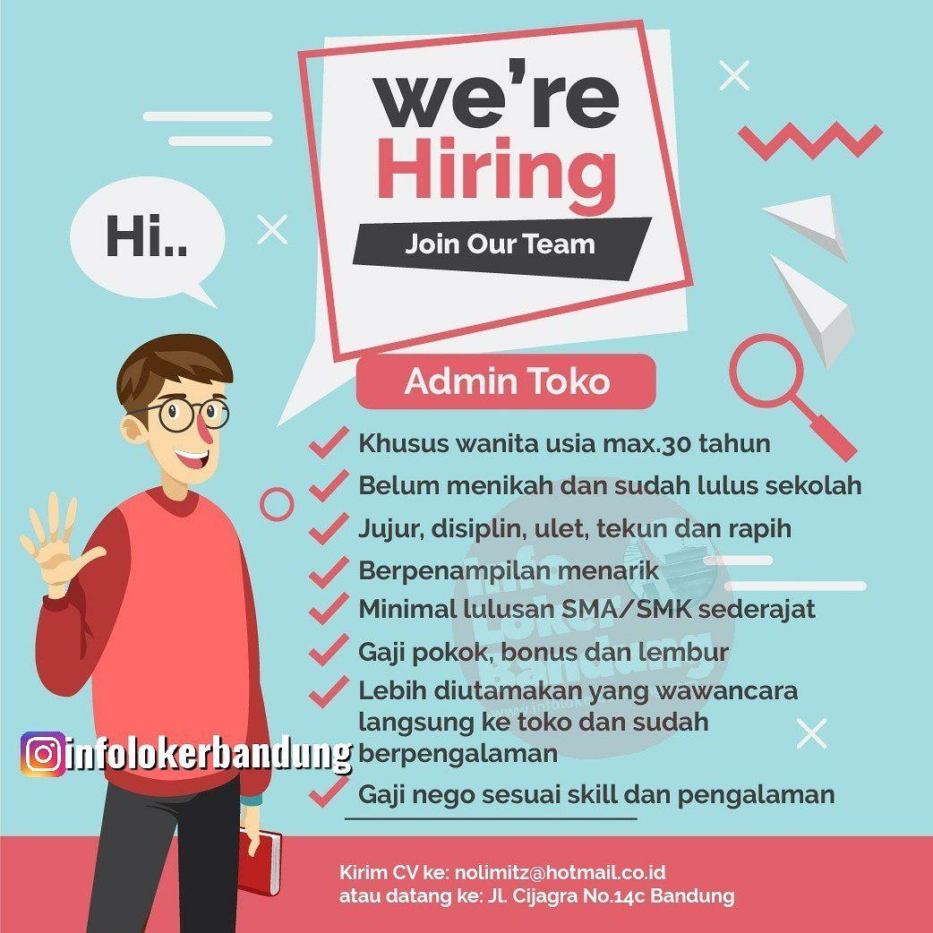 Lowongan Kerja Admin Toko Nolimitz Maticshop Bandung September 2019