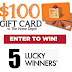 Win a $100 Home Depot Gift Card - 5 Winners. Limit One Entry Per Person, Ends 7/2/20 - Short 3 Day Giveaway