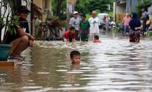 Serang Diguyur Hujan, Belasan Titik Teredam Banjir