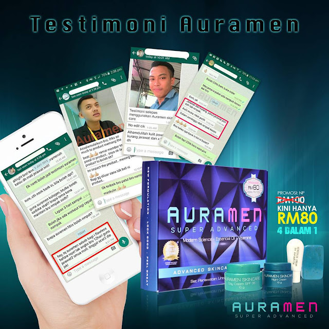 Testimoni Auramen Skincare 4in1