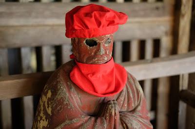 高野山真言宗 光輪寺(こうりんじ)赤色の木仏