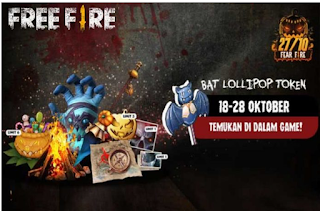 Cara Dapat Token Pumpkin Candy di Event Fear FF Free Fire