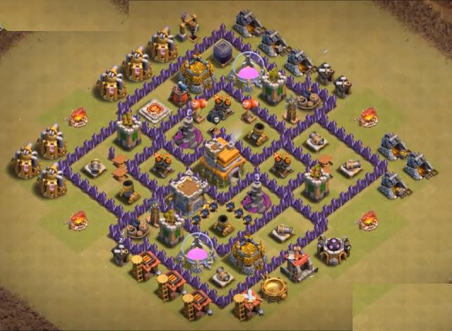 anti dragon th7 war base