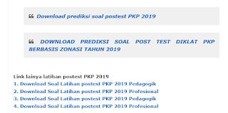 Soal Postest PKP 2019 Berbasis Zonasi