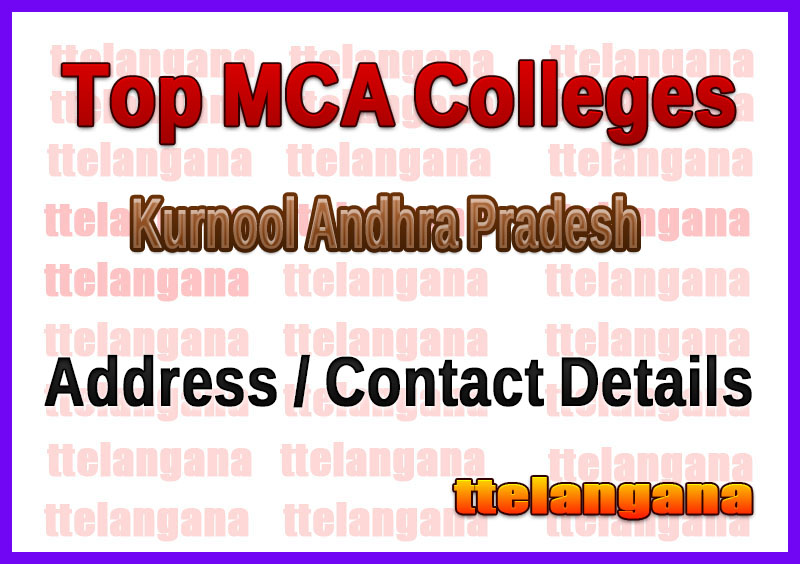 Top MCA Colleges in Kurnool Andhra Pradesh