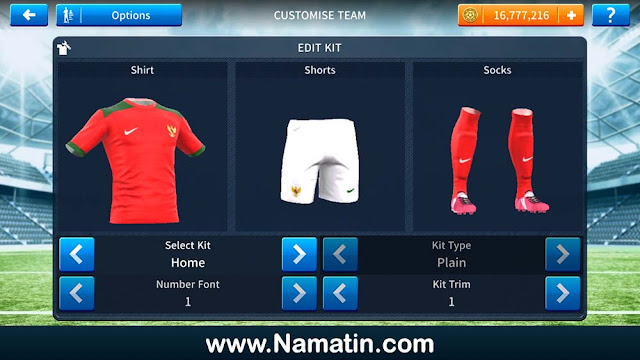 Baju Dream League Soccer Timnas Indonesia