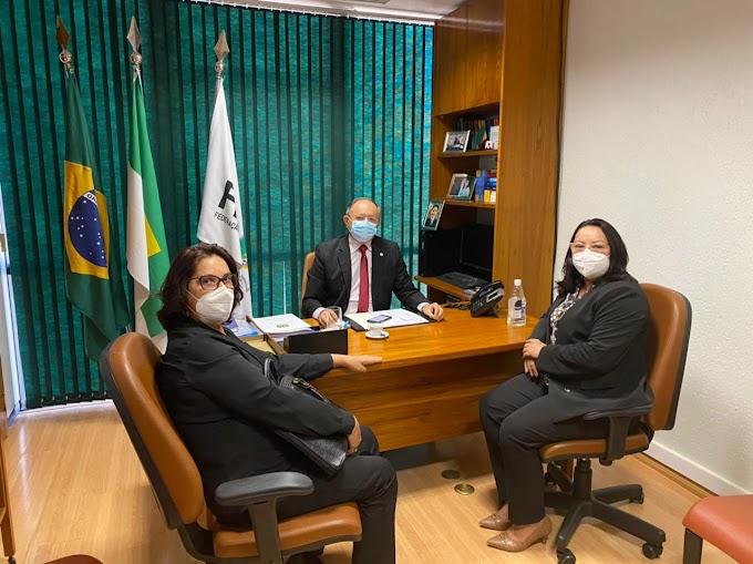 Em Brasília, prefeita Sandra Jaqueline tem participado de reuniões em gabinetes parlamentares e ministérios