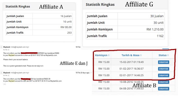 Komisen Affiliate Awal Tahun 2017