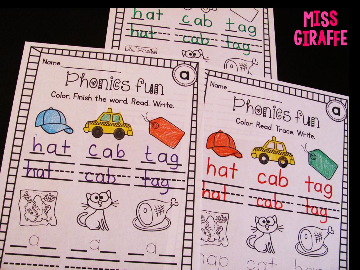 Miss Giraffe S Class Short A Activities And Resources