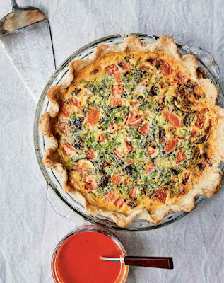 Grilled Vegetable Quiche, Red Bell Pepper Coulis Recipe