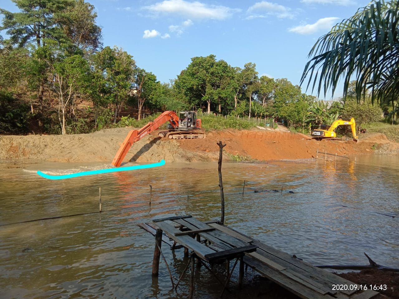 Diduga Merusak Jalan Setapak, GNPK RI Sumsel Akan Laporkan Pemborong Telaga Subur