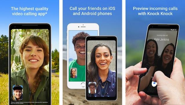 Google-Duo - أفضل تطبيقات لإجراء مكالمات مجانية للاندرويد
