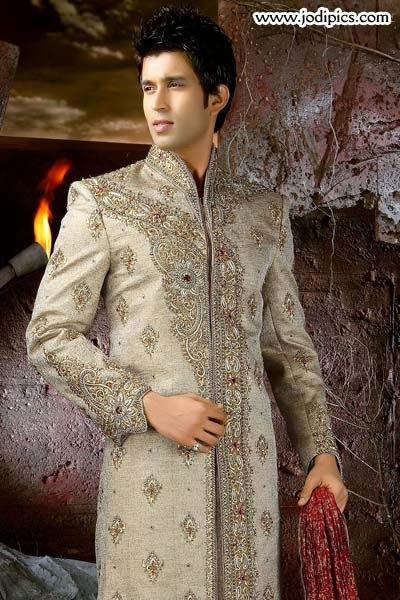 Latest Dulha Sherwani 2014 For Wedding Groom Kurta Stylish