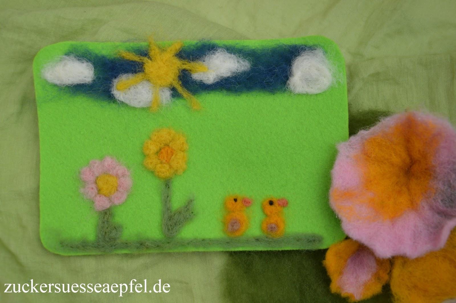 Eine Anleitung für süße Frühlingsbilder selber filzen | ♥Zuckersüße ...