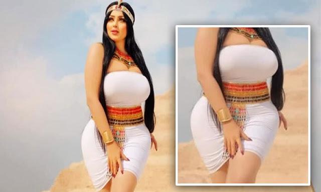 صور عارضة أزياء بمنطقة الأهرامات تثير ضجة في مصر