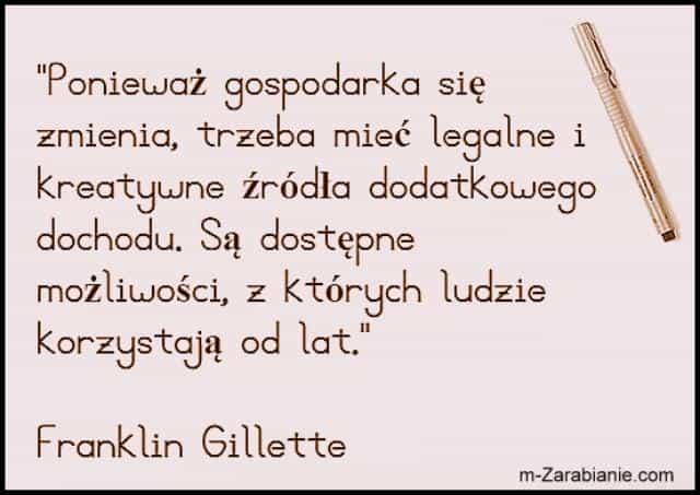 Franklin Gillette, cytaty o dochodach.
