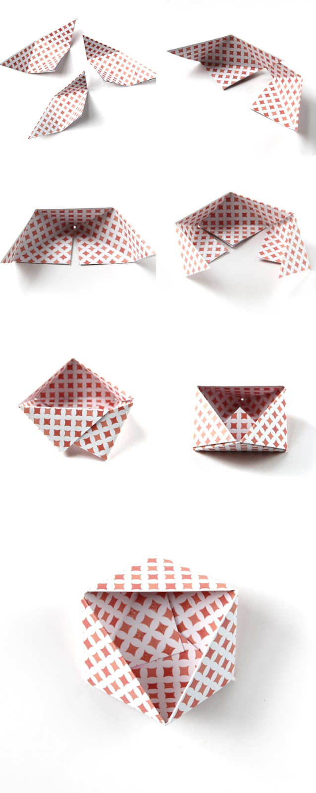HOW TO MAKE DIY ORIGAMI GEOMETRIC TRIANGLE BOWLS