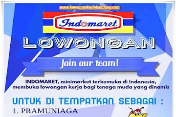 Lowongan Kerja Pramuniaga & Kasir Indomaret Bandung