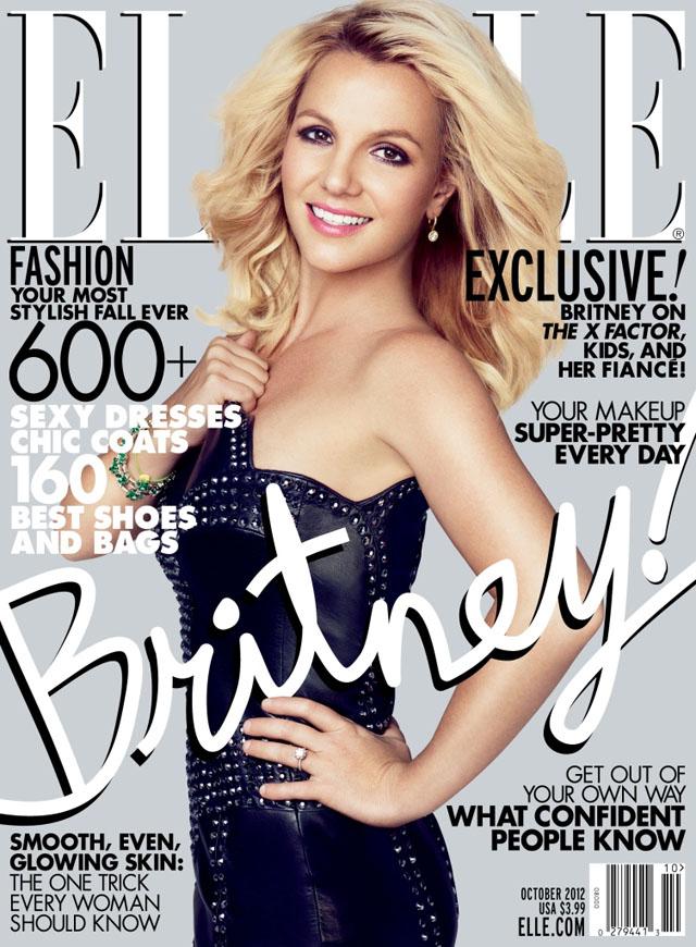 Britney Spears Elle October 2012 cover
