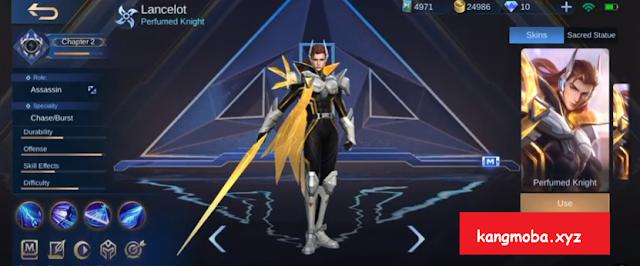 Script Skin Lancelot Bren E-Sport Full Effect + Voice Mobile Legends