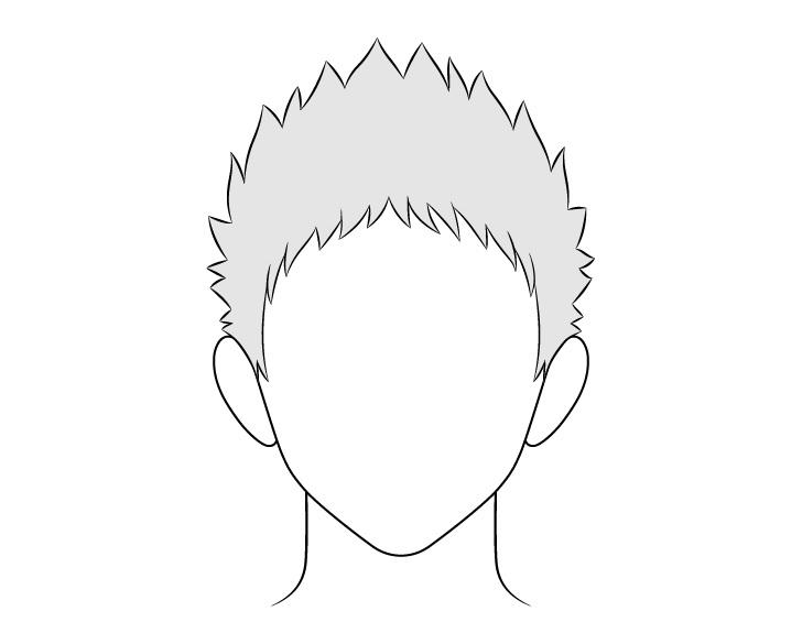 Gambar rambut pria runcing anime