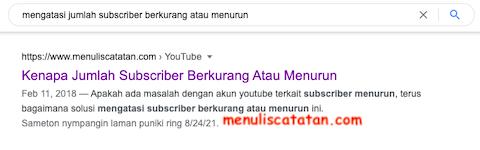 Cara menampilkan judul artikel saja di google