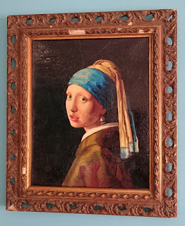 Girl with a Pearl Earring portrait in the style of Vermeer by Robin Springett
