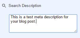 How to set meta description for your blogger posts