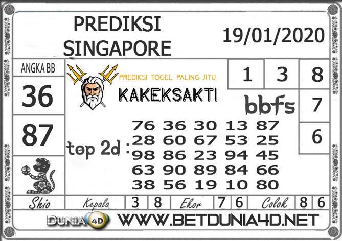 PREDIKSI TOGEL SINGAPORE DUNIA4D 19 JANUARI 2020