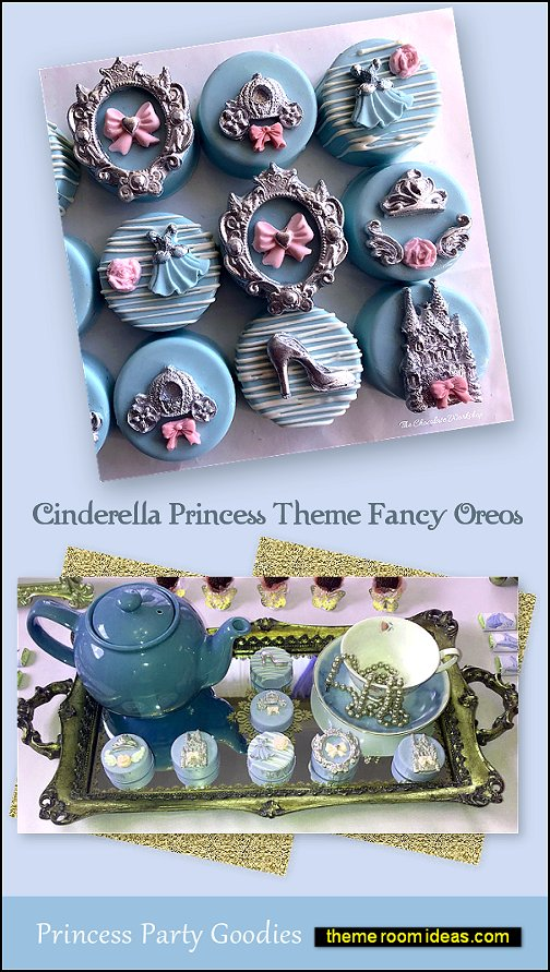 Cinderella Princess Theme Fancy Oreos cinderella party food
