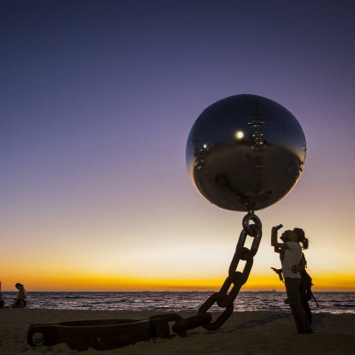 Soaring Steel Ball Sculpture, Australia