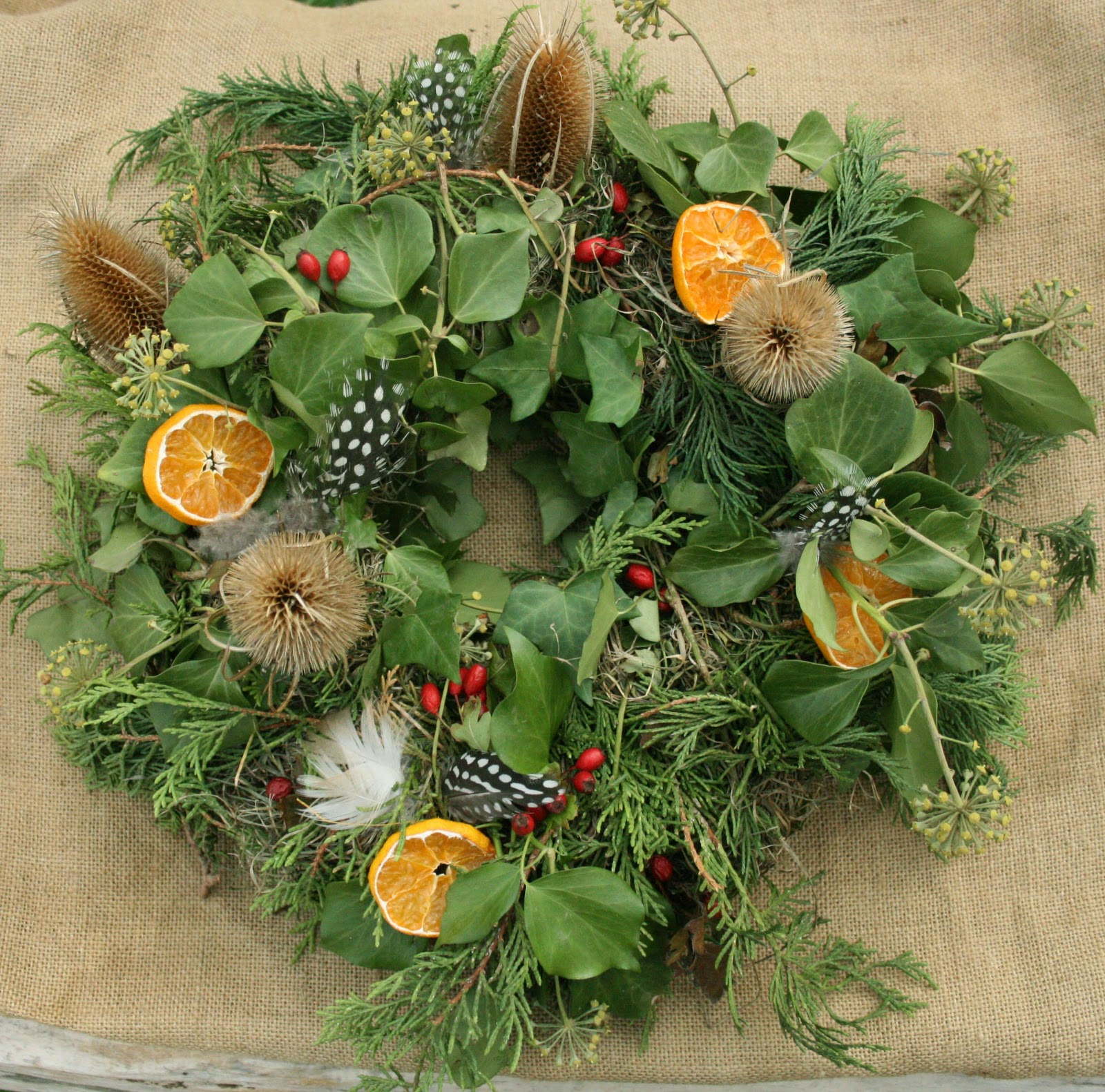 all natural Christmas crafts: All Natural Christmas Wreaths