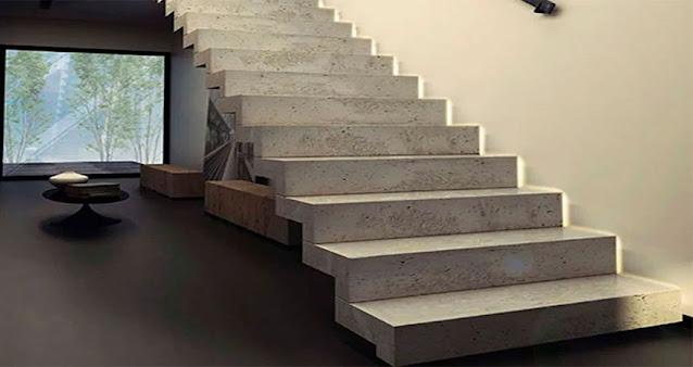 Desain tangga beton minimalis