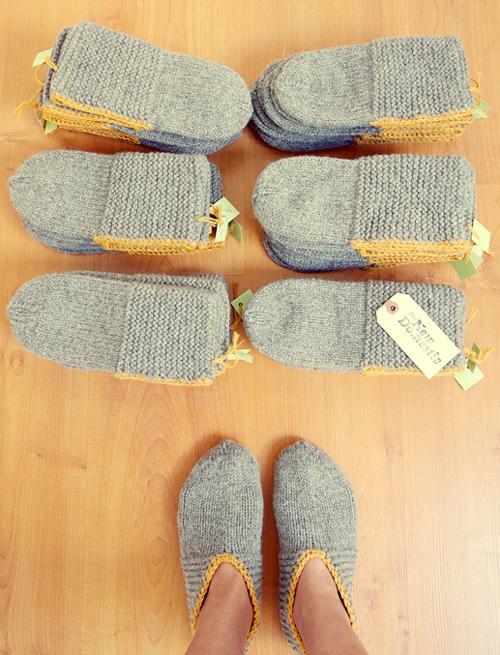 Coziest Wool Slippers - Knitting Pattern