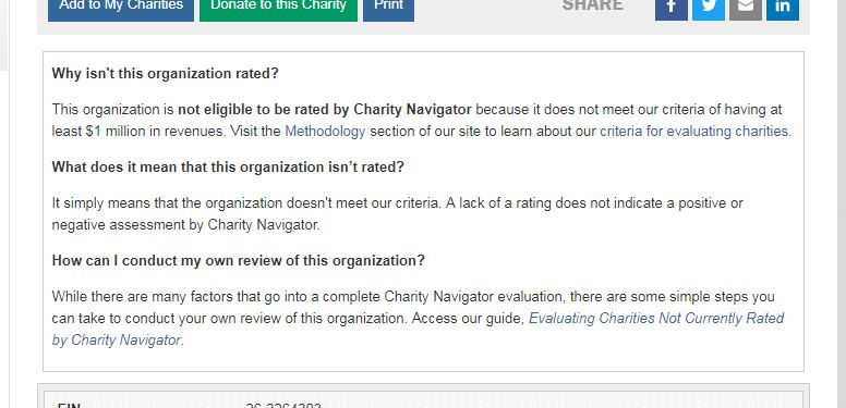 Charity Navigator Help! That Charity Isn 0027t Rated - charity evaluation