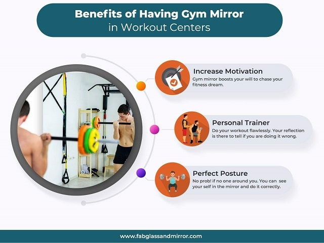 benefits gym mirror fitness center mirrors
