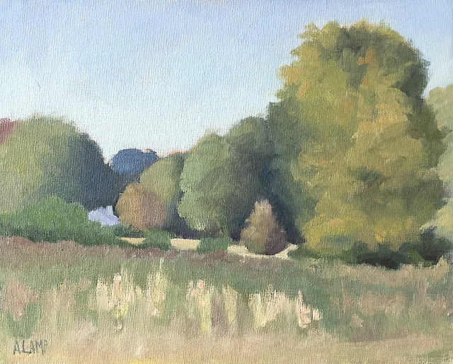 green landscape 8x10 painting
