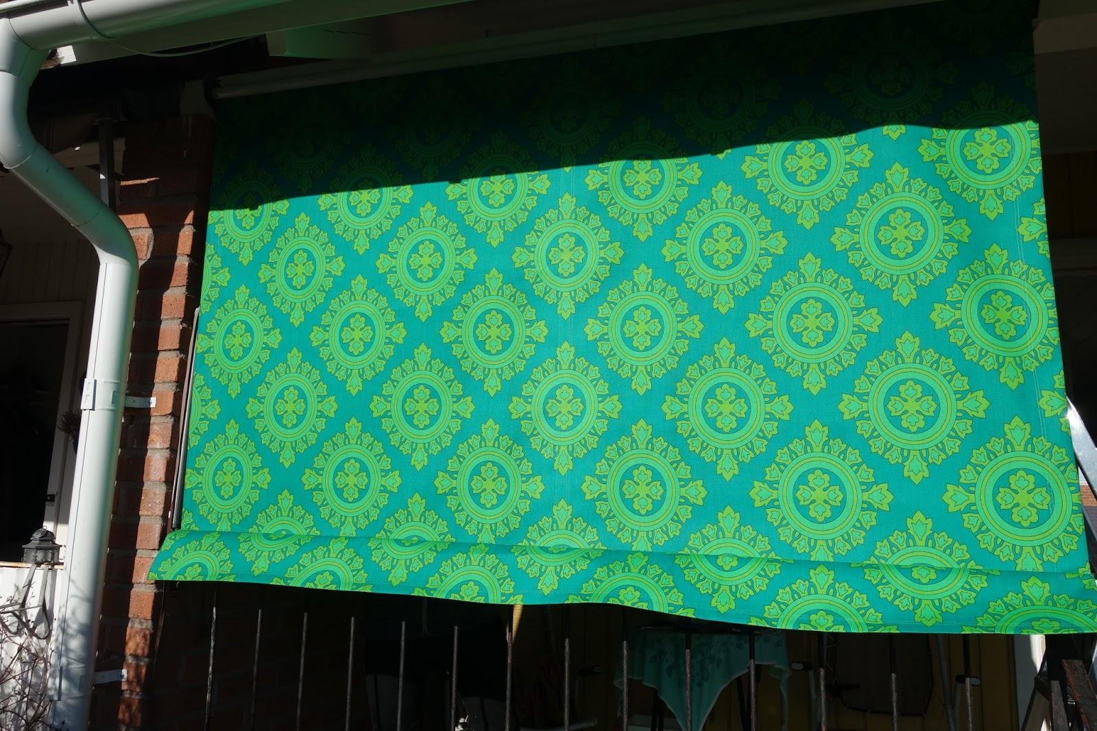 Sytt egen markis i snyggaste gröna 70-tals mönstrade ...