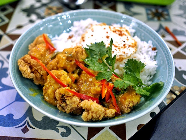 Luckin Kopi Petaling Street Menu - Salted Eggs Chicken Rice