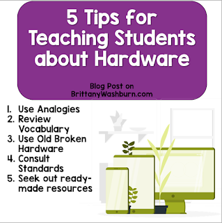 Understanding the structure and function of hardware is a foundational skill in computer science.  Here are a few tips for teaching your students all about it!